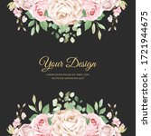 watercolor pink roses wedding... | Shutterstock .eps vector #1721944675