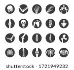 human bone and joint icon set ... | Shutterstock .eps vector #1721949232