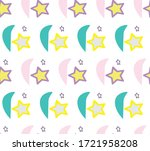 colorful drawn pattern vector... | Shutterstock .eps vector #1721958208