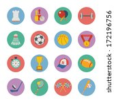 set of flat sport icons | Shutterstock . vector #172196756