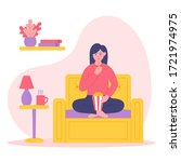 stay home concept illustration. ... | Shutterstock .eps vector #1721974975
