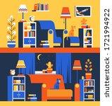 furniture accessories in living ... | Shutterstock .eps vector #1721994922