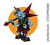 rock bunny mascot. colorful... | Shutterstock .eps vector #1721996368