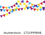 multi colored flags on the... | Shutterstock .eps vector #1721999848