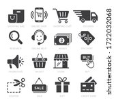 shopping icon vector... | Shutterstock .eps vector #1722032068