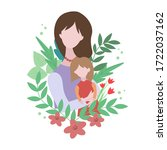 mother and her daughter ....   Shutterstock .eps vector #1722037162