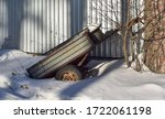 Rusty Old Cargo Trailer In The...