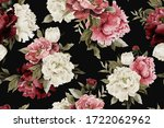 seamless floral pattern with... | Shutterstock . vector #1722062962