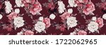 seamless floral pattern with... | Shutterstock . vector #1722062965