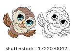 cute owls  vector illustration...   Shutterstock .eps vector #1722070042