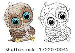 cute owls  vector illustration...   Shutterstock .eps vector #1722070045
