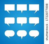 empty white speech bubbles the...   Shutterstock .eps vector #1722077008