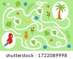 help the parrot collect all... | Shutterstock .eps vector #1722089998