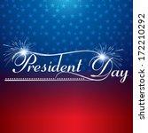 presidents day background...   Shutterstock .eps vector #172210292