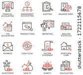 vector set of linear icons...   Shutterstock .eps vector #1722115678