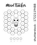 a4 print mood tracker for april ... | Shutterstock .eps vector #1722119488