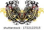 ornamental colorful floral... | Shutterstock . vector #1722122515