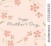 happy mother's day. there are... | Shutterstock .eps vector #1722130132