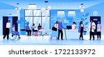 medical center reception flat... | Shutterstock .eps vector #1722133972