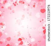 valentine's day background with ... | Shutterstock .eps vector #172213976