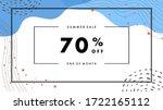summer sale design for website. ... | Shutterstock .eps vector #1722165112