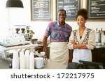 female owner of coffee shop | Shutterstock . vector #172217975