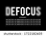defocus font design  focused... | Shutterstock .eps vector #1722182605
