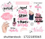 nails and manicure set with...   Shutterstock .eps vector #1722185065
