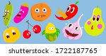 vegetables sticker pack ... | Shutterstock .eps vector #1722187765