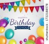 color glossy happy birthday...   Shutterstock .eps vector #1722188578