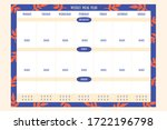 week meal planner  daily food... | Shutterstock .eps vector #1722196798
