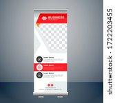 resort roll up banner design... | Shutterstock .eps vector #1722203455