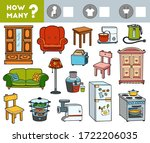 counting game for preschool... | Shutterstock .eps vector #1722206035