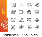 outline web icons set   search... | Shutterstock .eps vector #1722222592