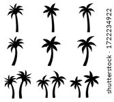 palm set icon  logo isolated on ... | Shutterstock .eps vector #1722234922