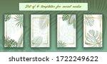 tropical leaves social media... | Shutterstock .eps vector #1722249622