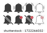 vector bell icon. set of...