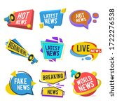 news labels flat icon... | Shutterstock .eps vector #1722276538