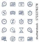 simple calendars and clocks... | Shutterstock .eps vector #1722278278