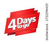 3d digits banner four days to...   Shutterstock .eps vector #1722296425