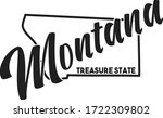 Vector Image Of Montana....