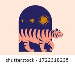Cute Tiger Come Out Of Arch....