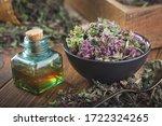 Bowl Of Dry Origanum Vulgare O...