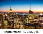 aerial view of new york city in ... | Shutterstock . vector #172232846