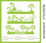 go green concept. save world... | Shutterstock .eps vector #172234256