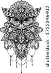 owl mandala illustration black... | Shutterstock .eps vector #1722346402