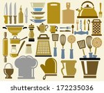 kitchen icons | Shutterstock .eps vector #172235036
