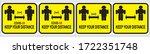 social distancing set  keep...   Shutterstock .eps vector #1722351748