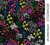 Colorful Ditsy Flower Print  ...