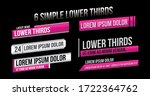 news lower thirds vector pack | Shutterstock .eps vector #1722364762